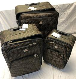 Hi Pack 3 Piece Soft Side Spinner Travel Luggage Set - Coffe