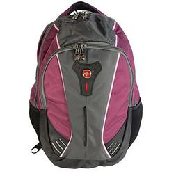 "Swiss Gear Jupiter Backpack With 16"" Laptop Pocket, Raspberr"