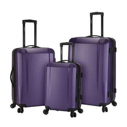 kensie 3 Piece Expandable Hardside Luggage Set with 8-Wheels