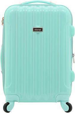 kensie Women's Alma Hardside Spinner Luggage, Opal, Carry-On