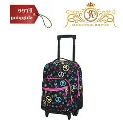Kids Backpack With Wheels Rolling Travel Luggage 17 Inch Sch