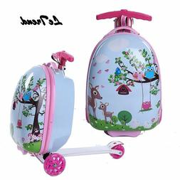 Kids Rolling Luggage Casters Wheels Suitcase For Children Tr