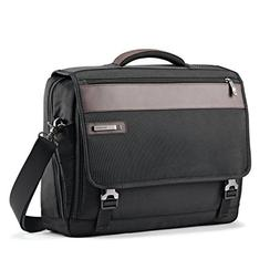 Samsonite Kombi Flapover Briefcase, Black/Brown
