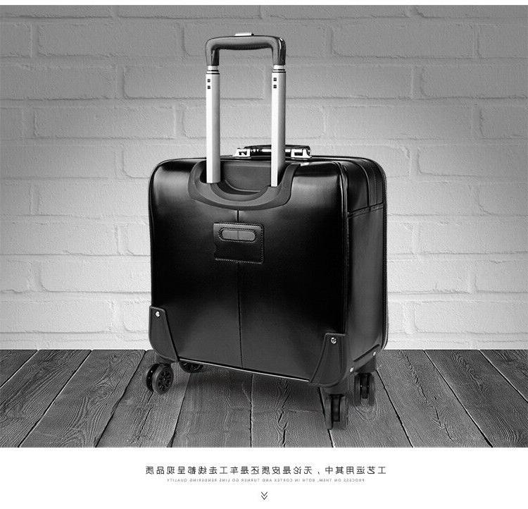 16 20 Leather Suitcase Trolley