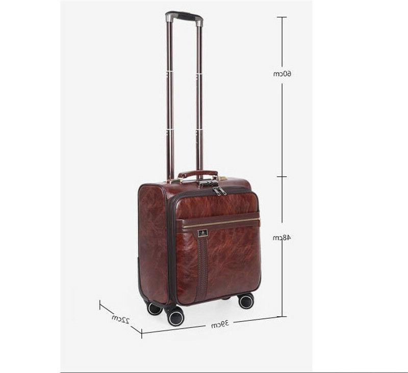 16 Inch Suitcase Men Business Luggage Wheels Case