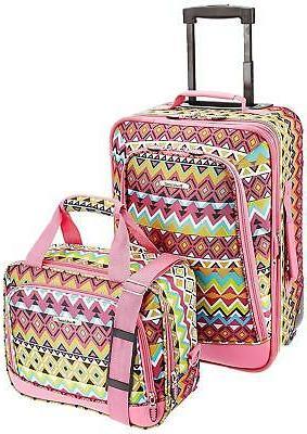 2 piece expandable luggage set girls 9