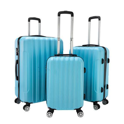 20 24 Luggage Set Bag ABS Trolley Shell Suitcase w/TSA lock