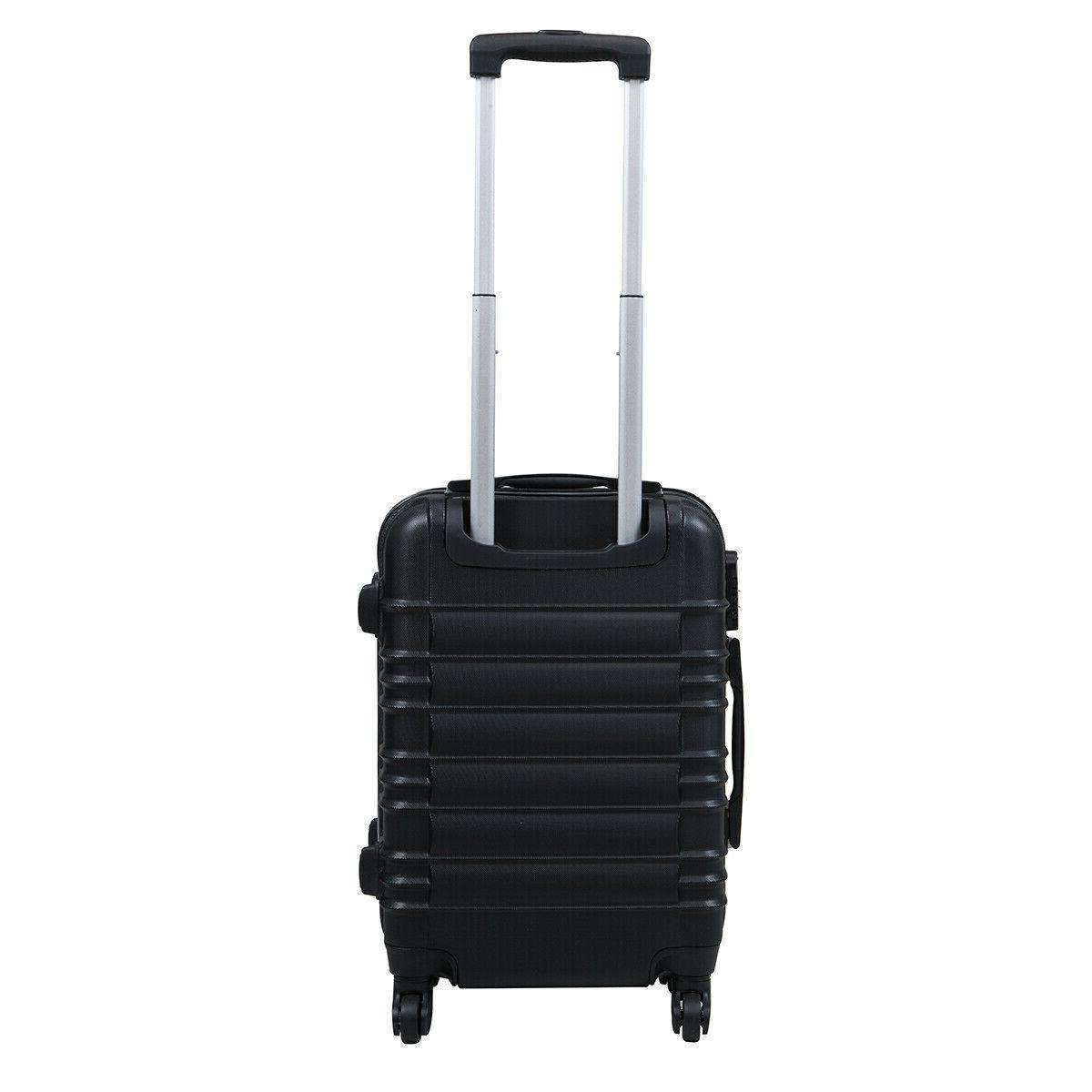 "20"" Luggage Travel Suitcase Lightweight Black"