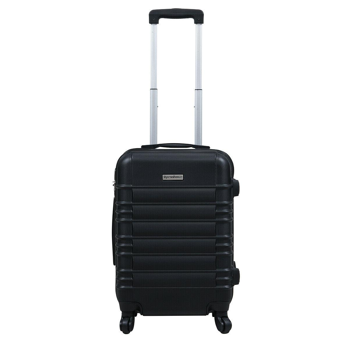 """20"""" ABS Luggage Travel Bag Suitcase"""