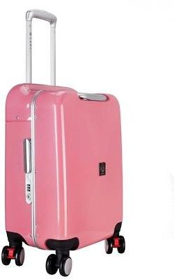 20 In. Pink Hardside Aluminum Frame Carry-on With Spinner Wh