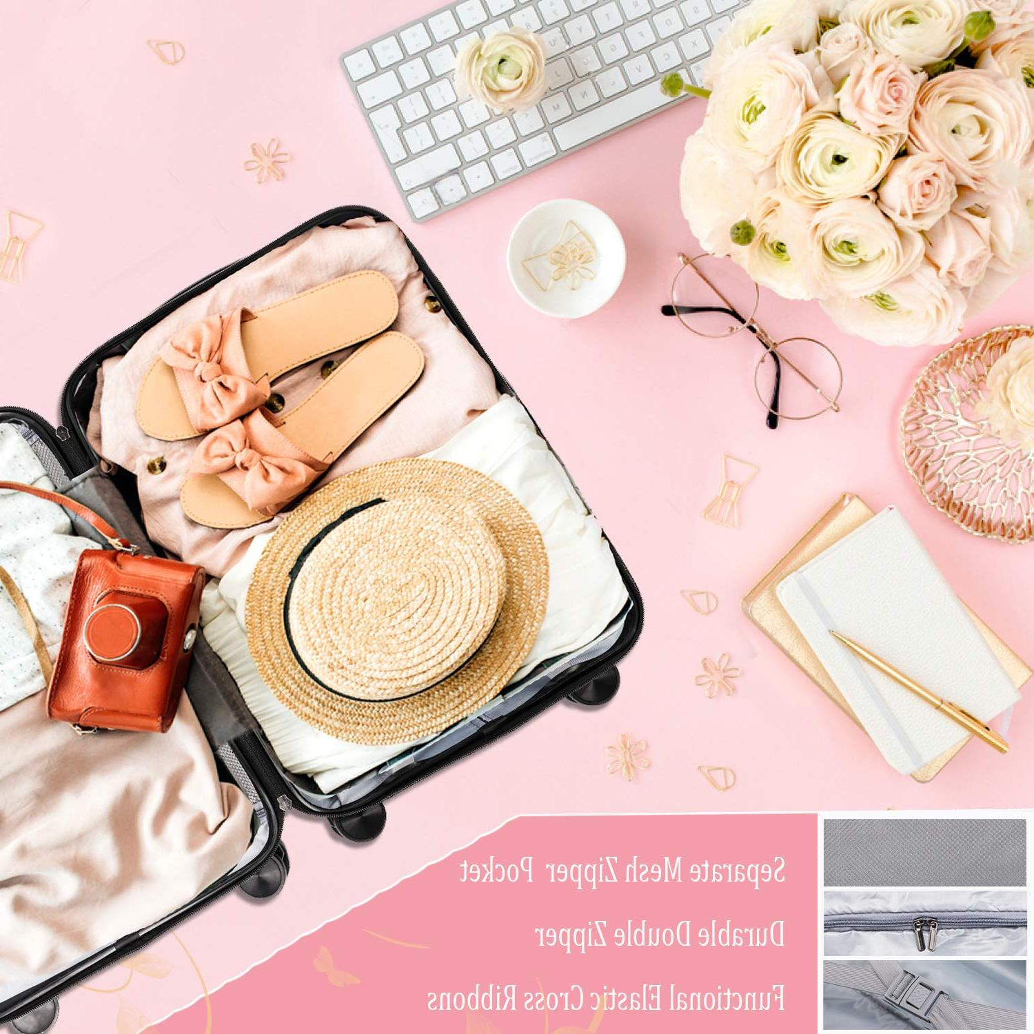 CarryOne Luggage Suitcase, Built-in