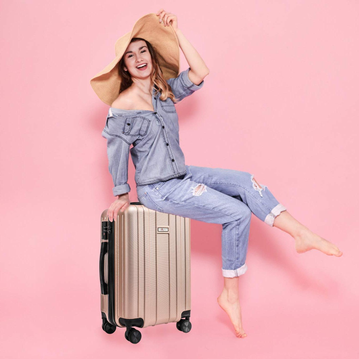 CarryOne Carry Luggage Suitcase, Built-in Lock,