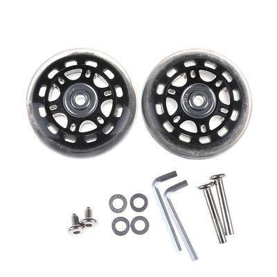 2pcs luggage suitcase replacement wheels axles repair