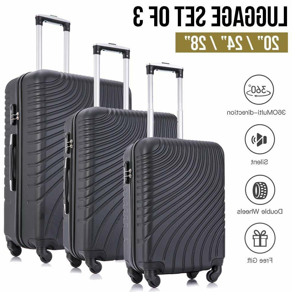 3/4 piece Multi-Type Luggage ABS Spinner Carry On