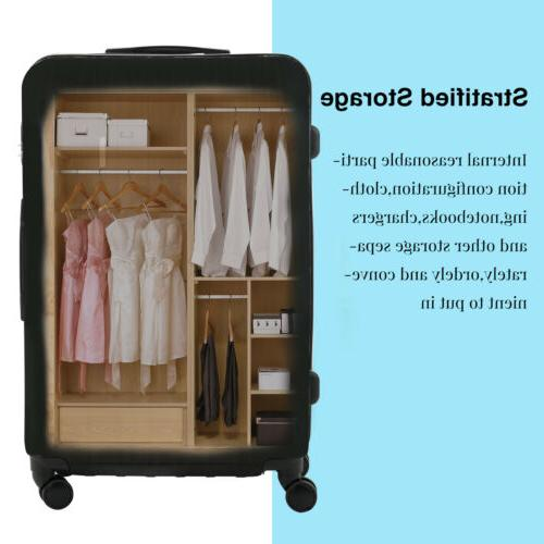 """3/4PCS Bag ABS Trolley Suitcase Luggage 28"""""""
