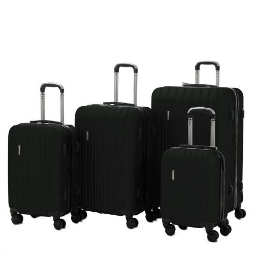 3/4PCS Travel Set ABS Spinner Luggage w/Lock 4OPTS