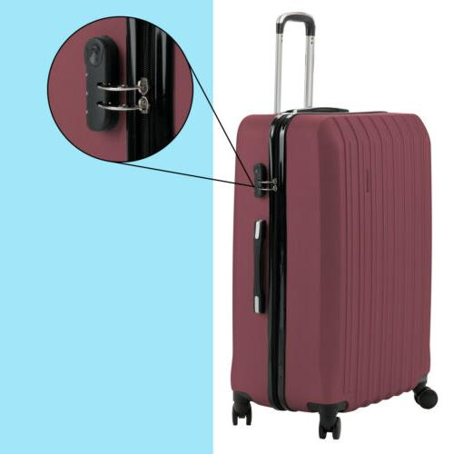 """ABS Trolley Suitcase Luggage w/Lock 28"""" 4OPTS"""