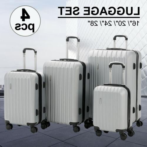 """3/4PCS Set ABS Trolley Spinner Suitcase Luggage w/Lock 28"""" 4OPTS"""
