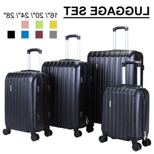 3 4pcs travel set bag abs trolley