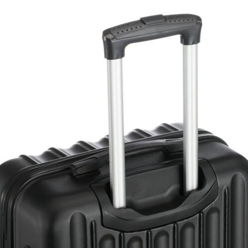 3 ABS Trolley Case Bag Spinner Hard Shell