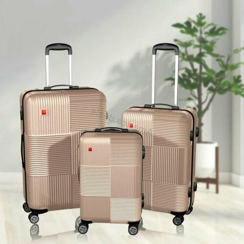 "3 Piece Luggage sets Lightweight Carry 20"" 24"" 28"""