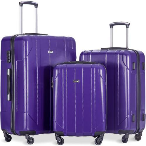 Merax Piece Luggage Set Weight