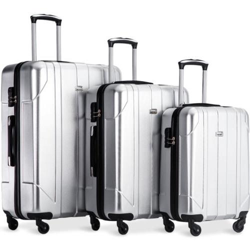 Merax Piece P.E.T Luggage Set Weight Travel Suitcase