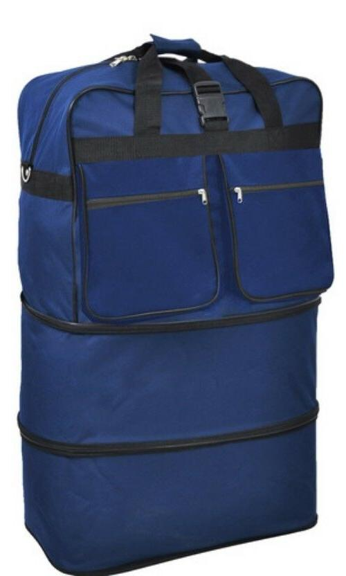 "30"" 36"" / 40"", Expandable Rolling Duffel Bag Wheeled Spinner"