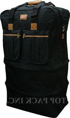 """30""""/36""""/40""""Expandable Duffel Spinner Luggage Heavy Duty"""