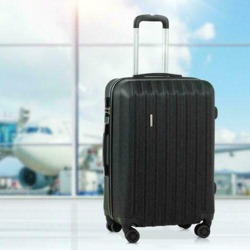 3Pcs Travel Bag ABS Trolley Suitcase with Lock 24 28 inch