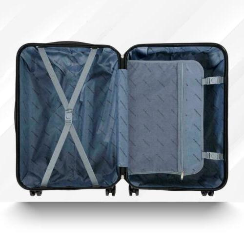 3Pcs Travel Luggage Bag ABS Suitcase with 20 24
