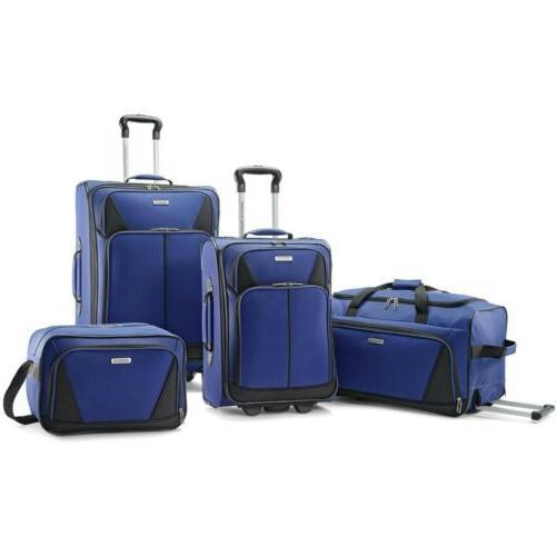 American tourister 4 piece softside luggage set, 8.9lbs,6lbs