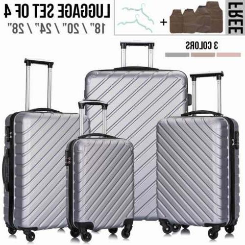 4 Luggage Set Lightweight Suitcase Spinner Hardshell