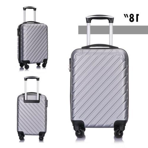 4 Piece Set Lightweight Suitcase Spinner Hardshell Business