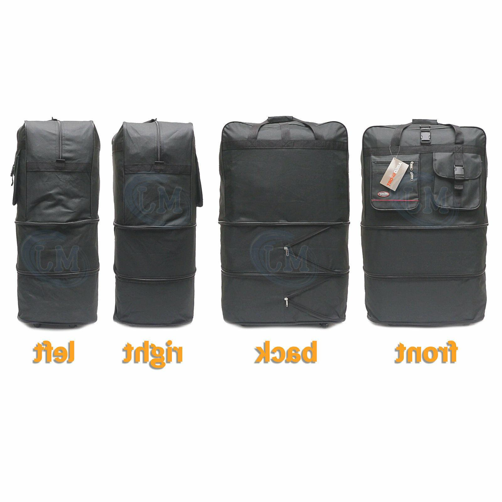 """40"""" Expandable Spinner Suitcase Luggage Wheeled Duffel Bag SELLER"""