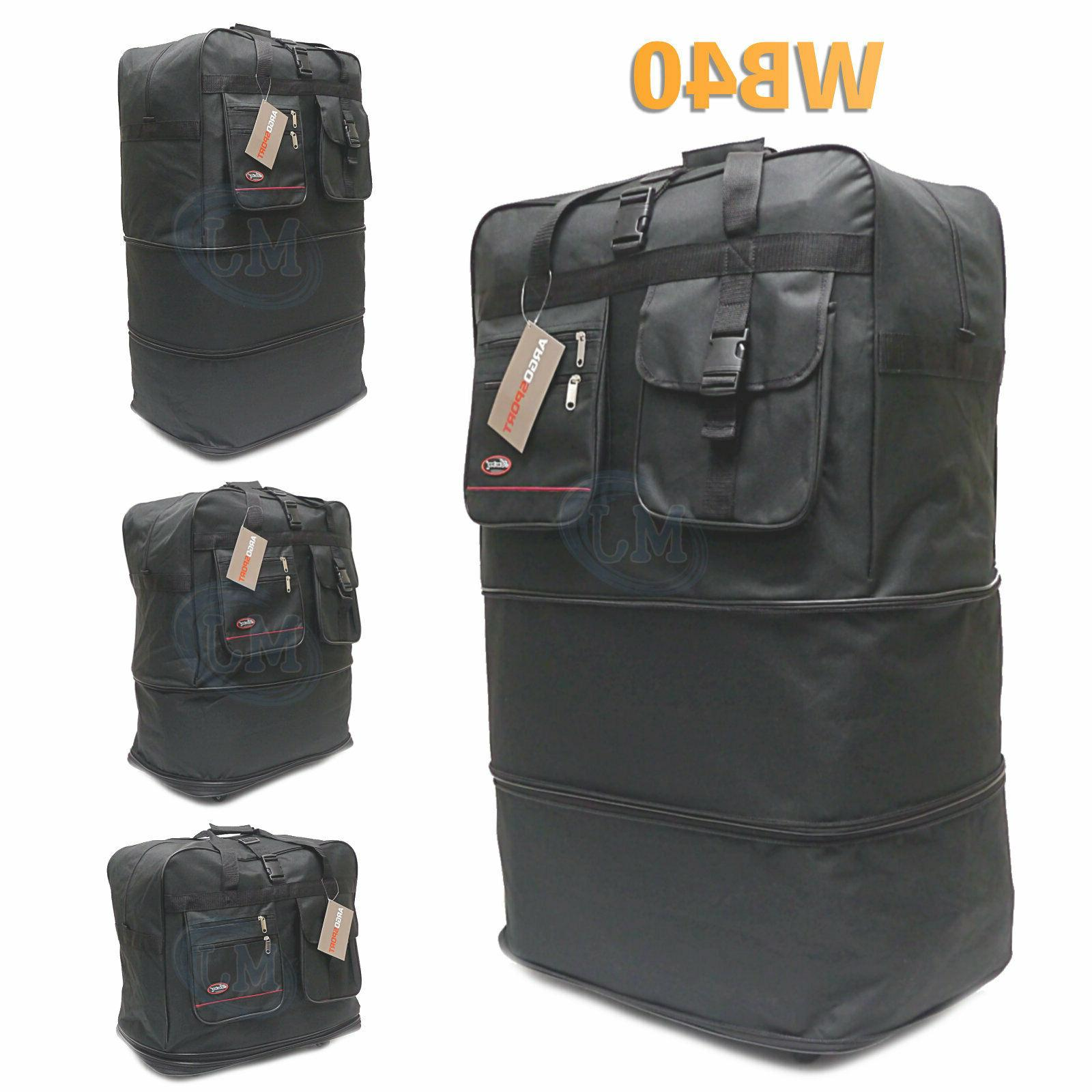 40 expandable spinner suitcase luggage wheeled duffel