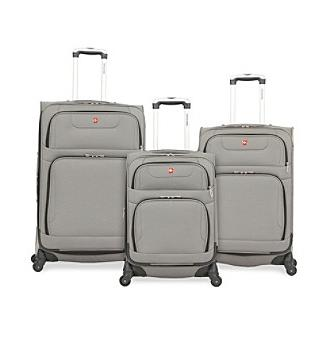 7297 pewter spinner luggage collection