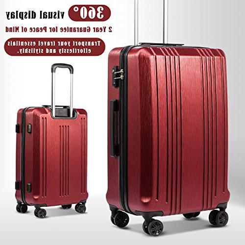 Coolife Luggage PC+ABS 3 with Spinner