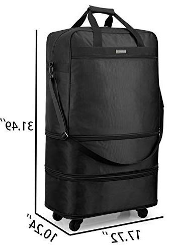 Hanke Expandable Luggage Bag Duffel Tote Men Women Suitcase Large Spinner Luggage Universal -