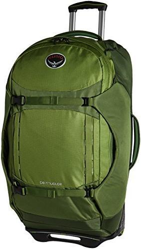 """Osprey Wheeled Luggage, Nitro Green, 80 L/28"""""""