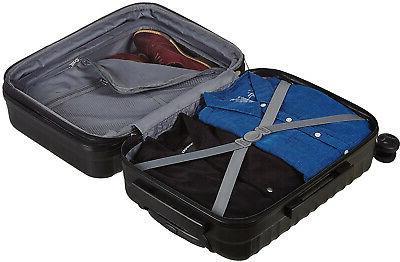 AmazonBasics Hardside Suitcase On Black FAST