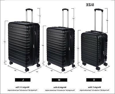 AmazonBasics Spinner Suitcase On Black SHIPS FAST
