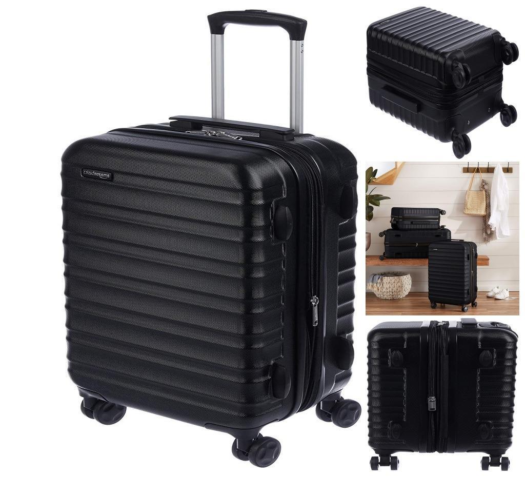 amazonbasics hardside spinner luggage carry on 20