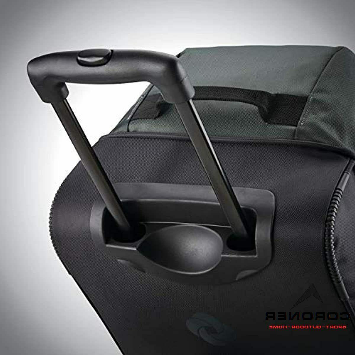 Samsonite 2 Bottom Rolling Bag, Moss Green/Black, 22