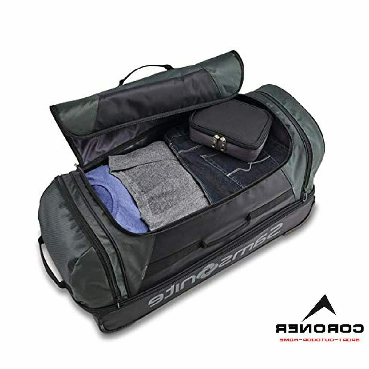 Bottom Wheeled Bag, Green/Black,