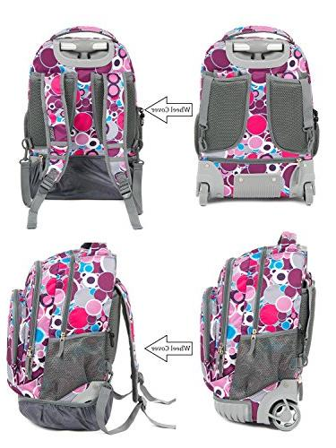Tilami 18 Load Multi-Compartment Wheeled Rolling Luggage for Kids …