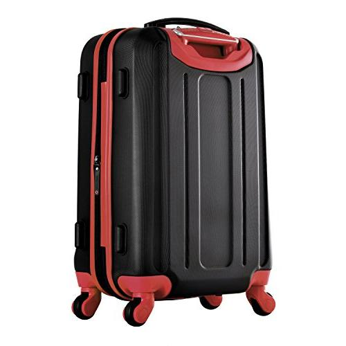 """Olympia Ii 21"""" Carry-on Black+RED"""