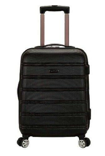 black carry on luggage rolling suitcase 20