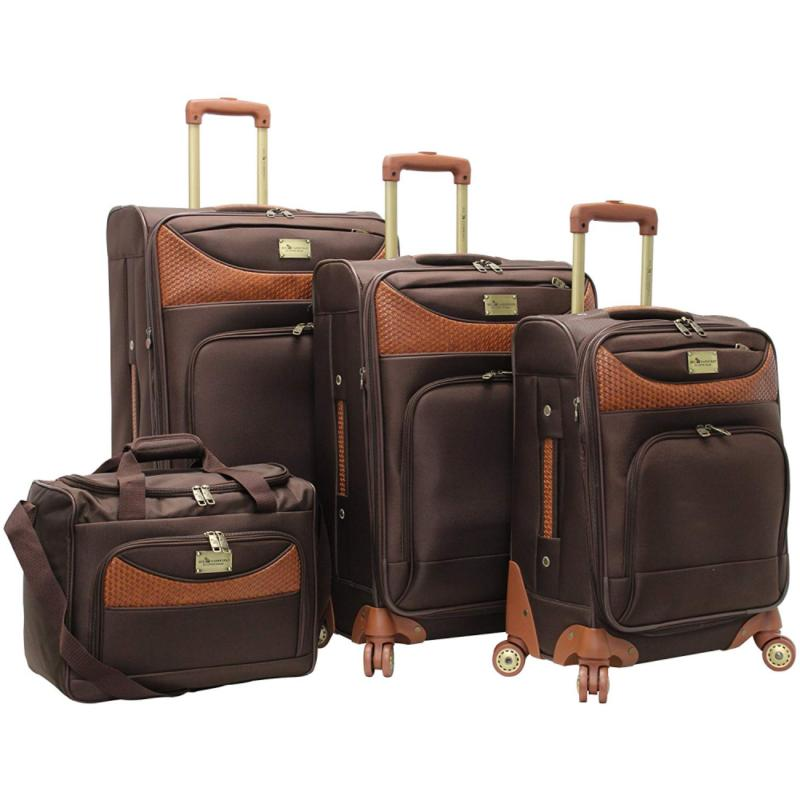 caribbean joe castaway 4 piece spinner luggage