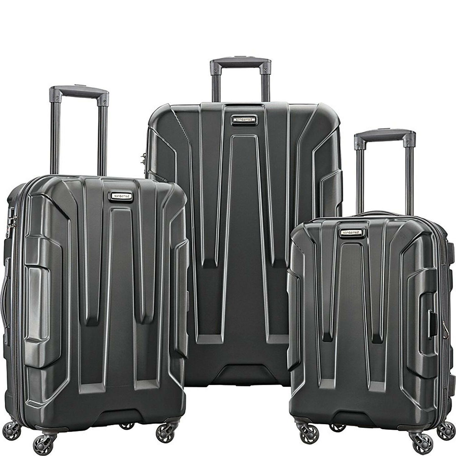 centric 3 piece hardside suitcase spinner luggage